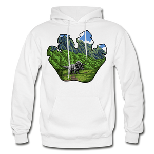 Triceratops Paw - Heavy Blend Hoodie - white