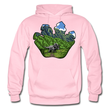 Load image into Gallery viewer, Triceratops Paw - Heavy Blend Hoodie - light pink