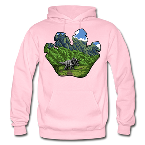 Triceratops Paw - Heavy Blend Hoodie - light pink