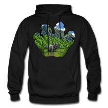 Load image into Gallery viewer, Triceratops Paw - Heavy Blend Hoodie - black