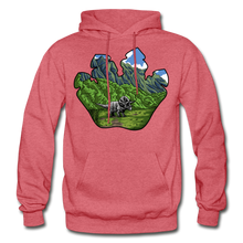 Load image into Gallery viewer, Triceratops Paw - Heavy Blend Hoodie - heather red