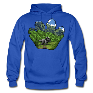 Triceratops Paw - Heavy Blend Hoodie - royal blue