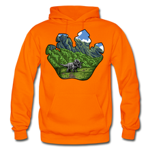 Load image into Gallery viewer, Triceratops Paw - Heavy Blend Hoodie - orange