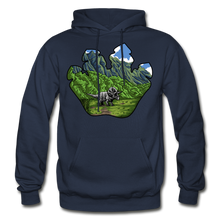 Load image into Gallery viewer, Triceratops Paw - Heavy Blend Hoodie - navy