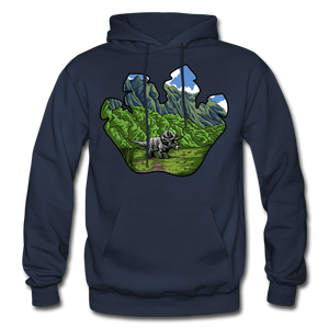 Triceratops Paw - Heavy Blend Hoodie - navy