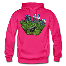 Load image into Gallery viewer, Triceratops Paw - Heavy Blend Hoodie - fuchsia