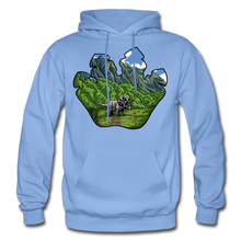 Load image into Gallery viewer, Triceratops Paw - Heavy Blend Hoodie - carolina blue