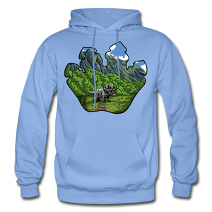Triceratops Paw - Heavy Blend Hoodie - carolina blue
