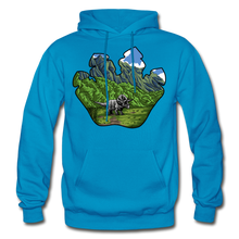 Load image into Gallery viewer, Triceratops Paw - Heavy Blend Hoodie - turquoise