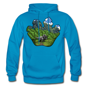 Triceratops Paw - Heavy Blend Hoodie - turquoise