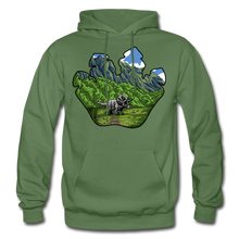 Load image into Gallery viewer, Triceratops Paw - Heavy Blend Hoodie - military green