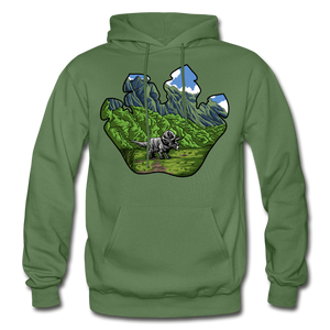 Triceratops Paw - Heavy Blend Hoodie - military green