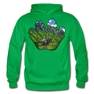 Triceratops Paw - Heavy Blend Hoodie - kelly green