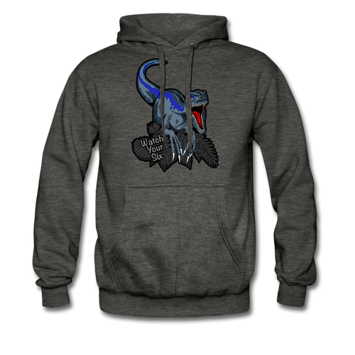 Watch Your Six - Heavyweight Hoodie - charcoal