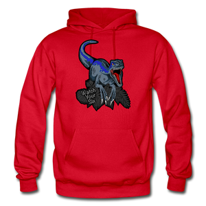 Watch Your Six - Heavy Blend Hoodie - red