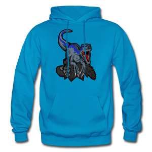 Watch Your Six - Heavy Blend Hoodie - turquoise