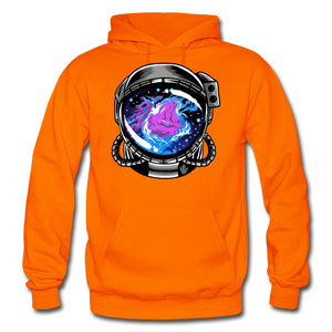 Orion's Nebula - Heavy Blend Hoodie - orange