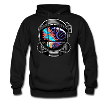 Load image into Gallery viewer, Cosmic Ocean Helmet - Midweight Hoodie - black