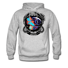 Load image into Gallery viewer, Cosmic Ocean Helmet - Midweight Hoodie - heather gray