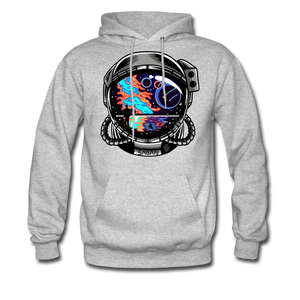 Cosmic Ocean Helmet - Midweight Hoodie - heather gray