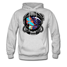 Load image into Gallery viewer, Cosmic Ocean Helmet - Midweight Hoodie - ash
