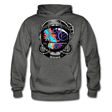 Load image into Gallery viewer, Cosmic Ocean Helmet - Midweight Hoodie - charcoal gray