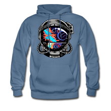 Load image into Gallery viewer, Cosmic Ocean Helmet - Midweight Hoodie - denim blue