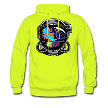 Load image into Gallery viewer, Cosmic Ocean Helmet - Midweight Hoodie - safety green