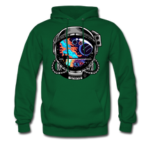 Load image into Gallery viewer, Cosmic Ocean Helmet - Midweight Hoodie - forest green