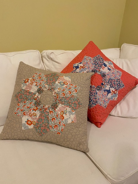 Tilda Dresden Plate Pillow Kit - Coral Colour