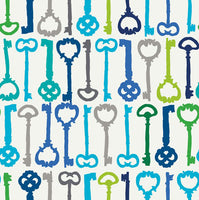 Ashton Road - Valori Wells for Robert Kaufman - Keys in Blue