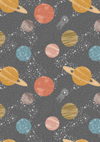 Planets on Dark Grey - To The Moon and Back