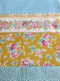Apple Butter Churn Dash Table Runner - Teal Colourway