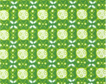 Ashton Road - Apple Green Geometric - Robert Kaufman