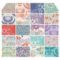 Tilda - Plum Garden Village Quilt Kit with Lazy Days Collection