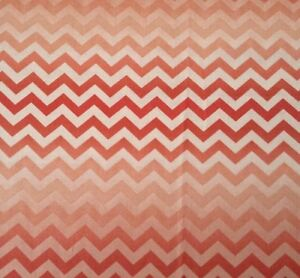 Enjoy the Ride - Quilting Treasures - Coral/Rust Chevron