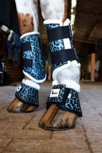 Turquoise Leopard Bell Boots - Limited Edition