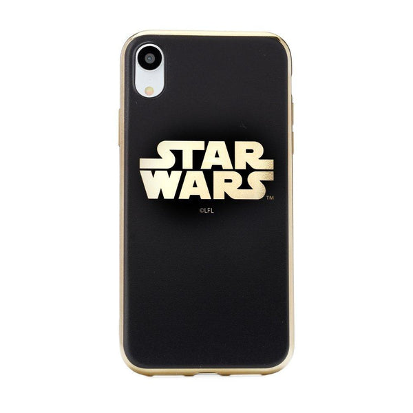 "Силиконов гръб licence iphone xr ( 6,1"" ) star wars luxury chrome gold (002) - IphoneXr"