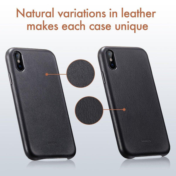 Esr oxford leather гръб - iphone x / xs черен - IphoneX, IphoneXs