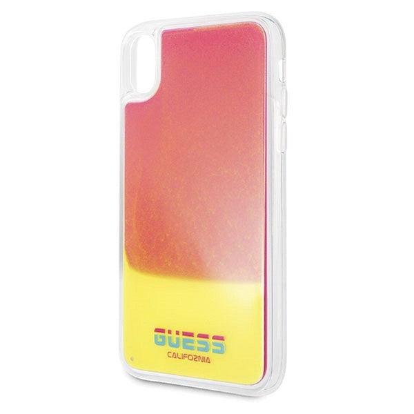 Husa Original Faceplate GUESS GUHCI61GLCPI - iPhone XR roz