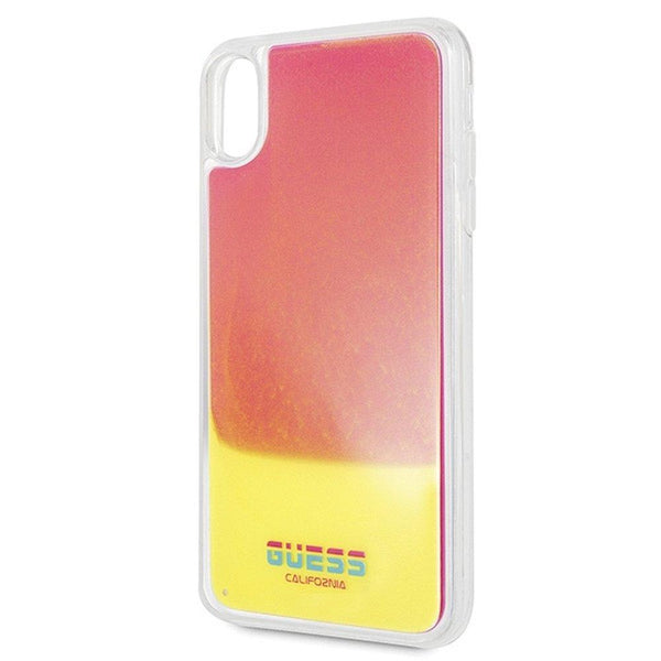 Husa Original Faceplate GUESS GUHCI65GLCPI - iPhone Xs Max roz