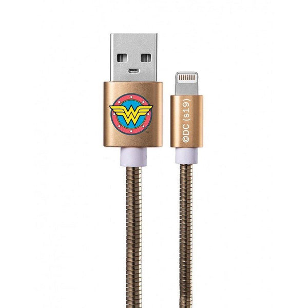 кабел work with lightning licence metal wonder woman 002 gold - cable, new