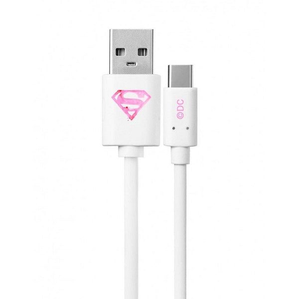 кабел micro licence superman бял 001 - cable, new