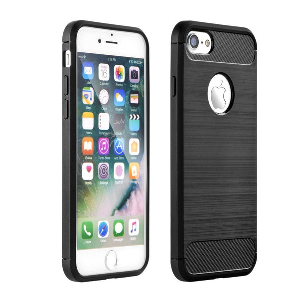 Husa Forcell Carbon - iPhone 5/5S/SE negru