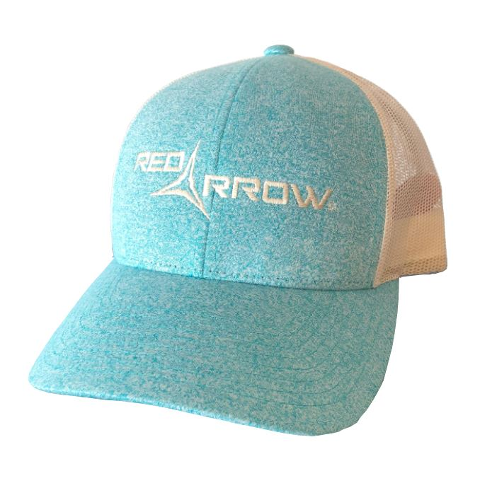 Neon Red Arrow Logo Trucker Hat