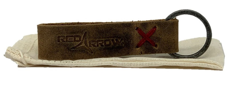 Red Arrow Leather Keychain