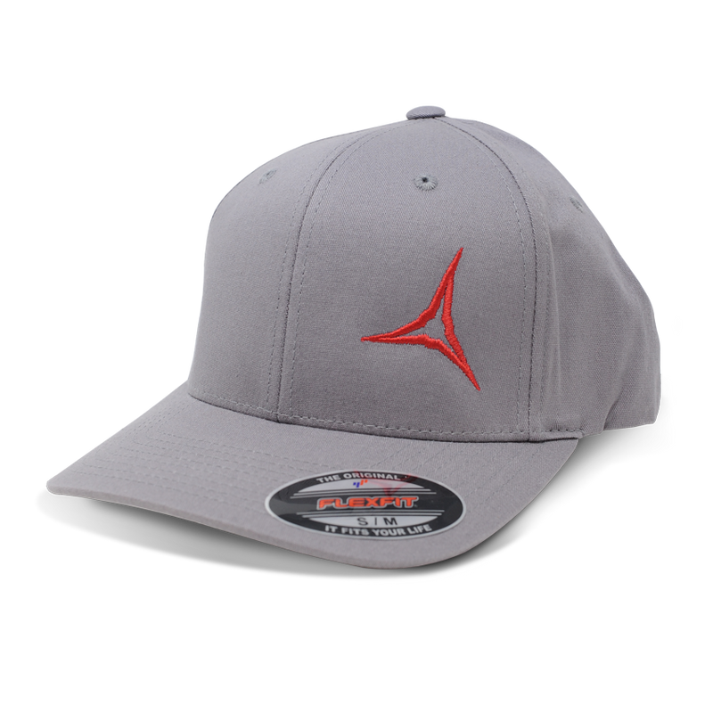 Grey Broadhead Flex Fit Hat - S/M