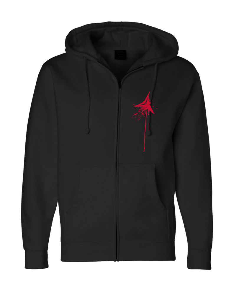 Turn Em Red Zip Up Hoodie