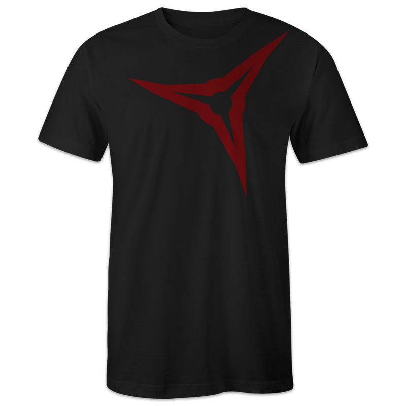 Broadhead Shoulder Tee - Black & Red