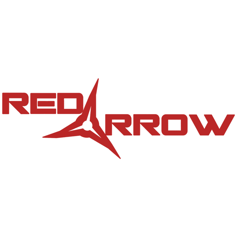 Red Arrow Broadhead Logo 14x14 Decal